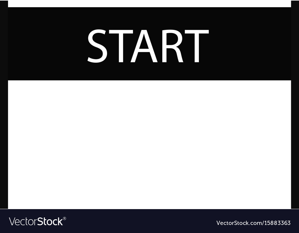 Start icon on white background start sign flat