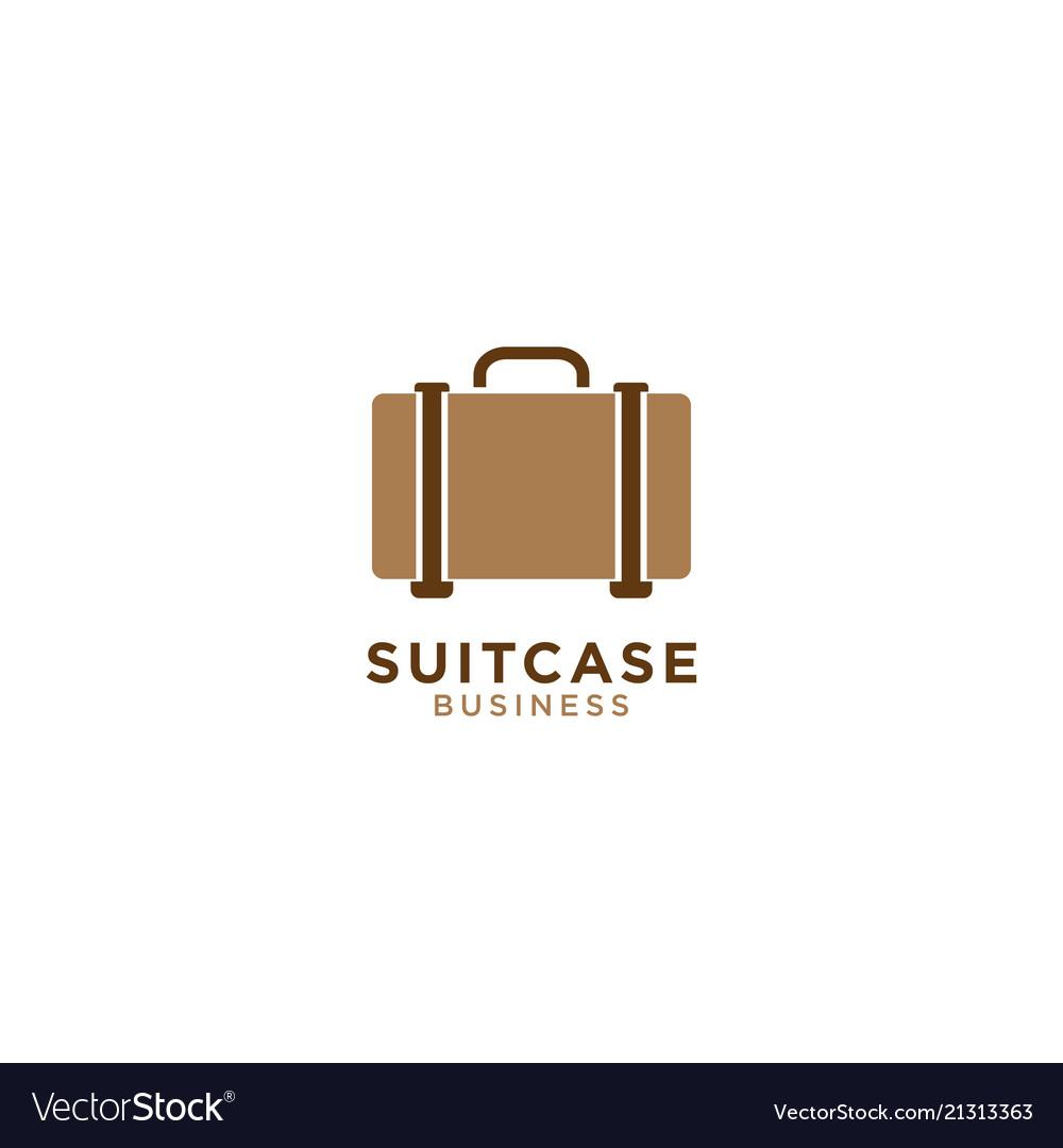 Suitcase graphic design template