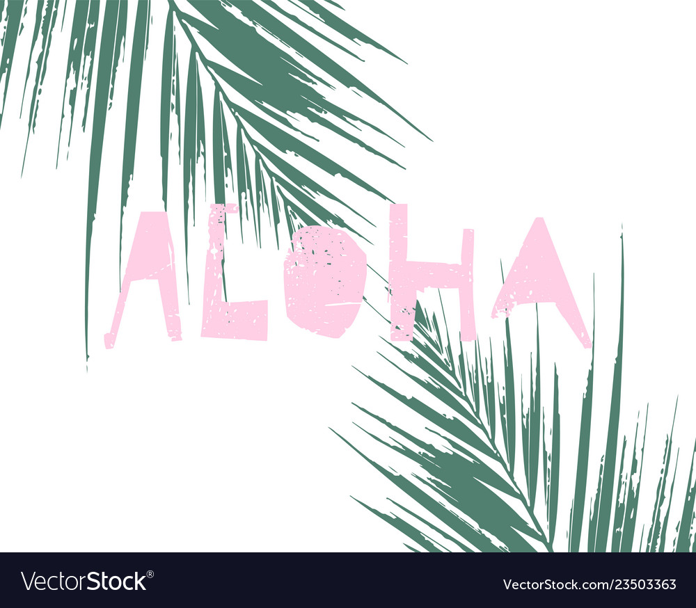 Tropical collage pattern banner in hawaiian style