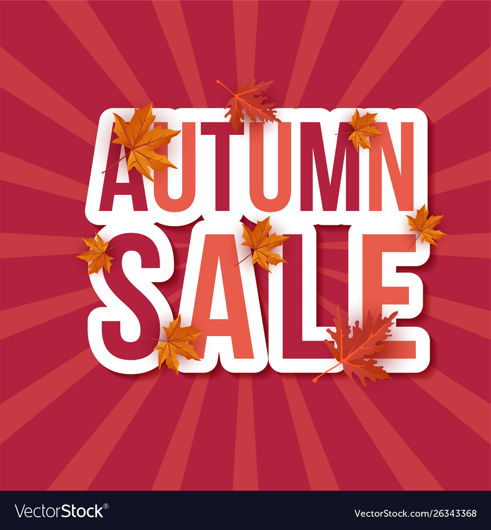 Autumn sale leaves background