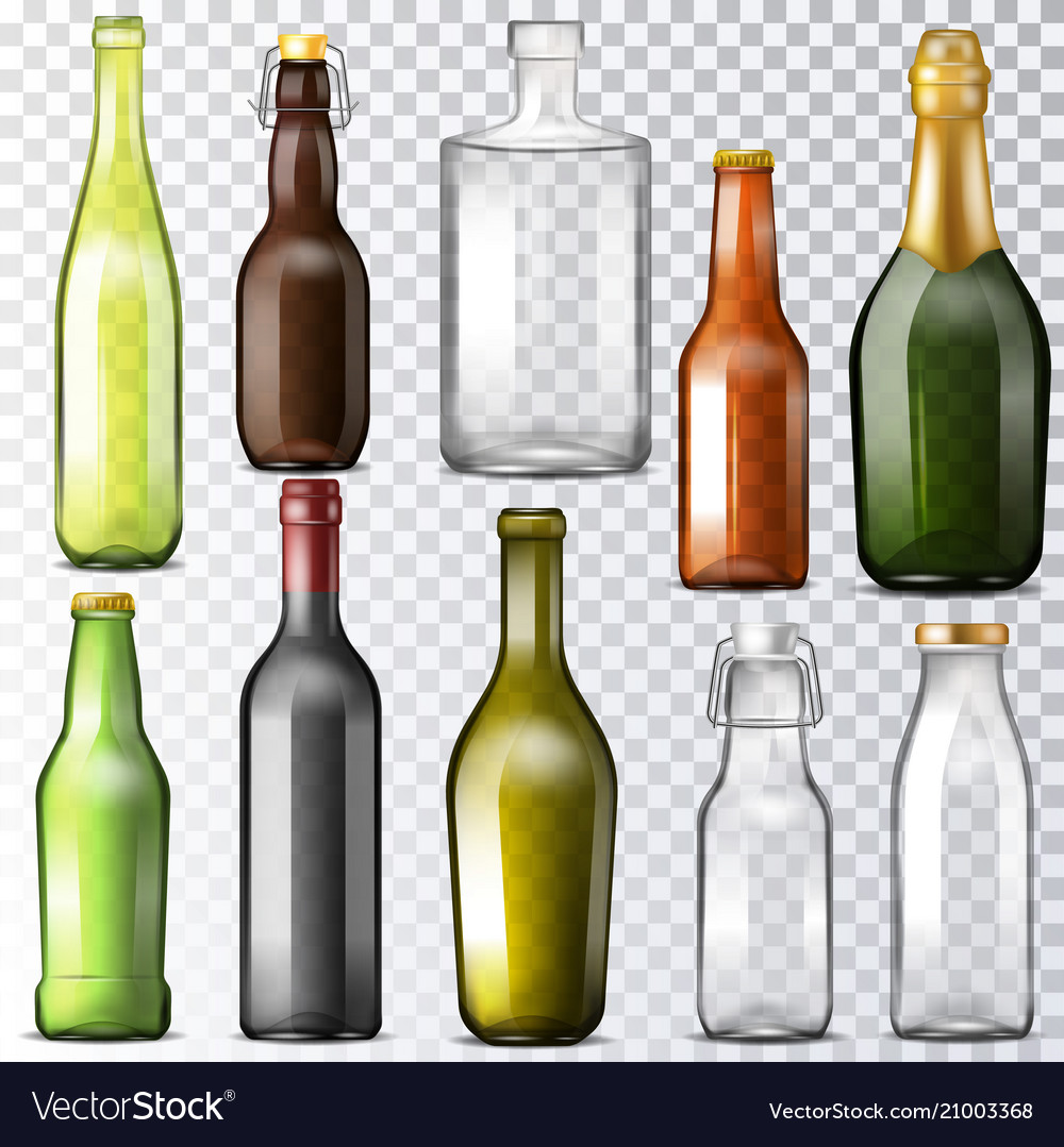 Bottle glass glassware of water-bottle and