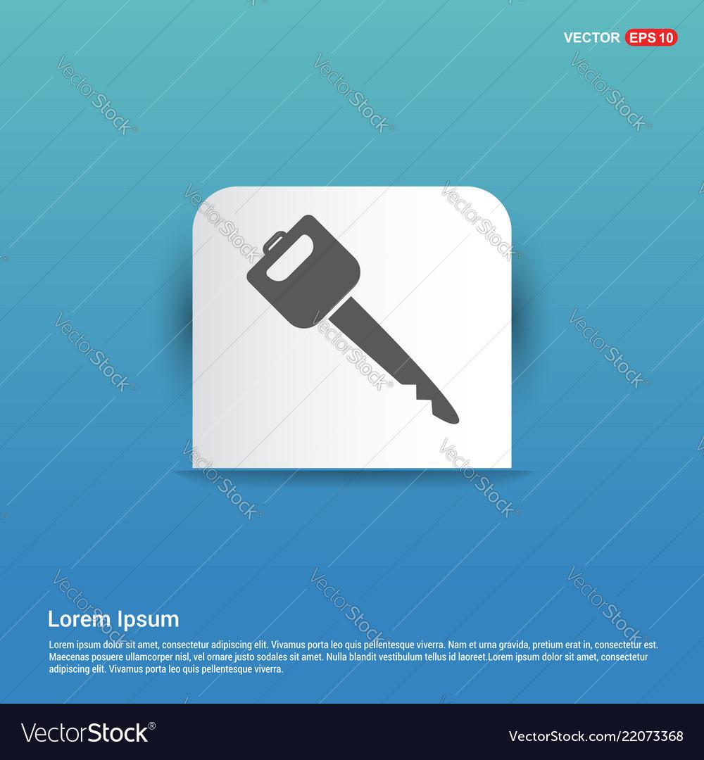 Car key icon - blue sticker button