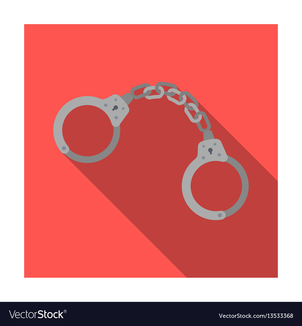 Handcuffs icon in flat style isolated on white