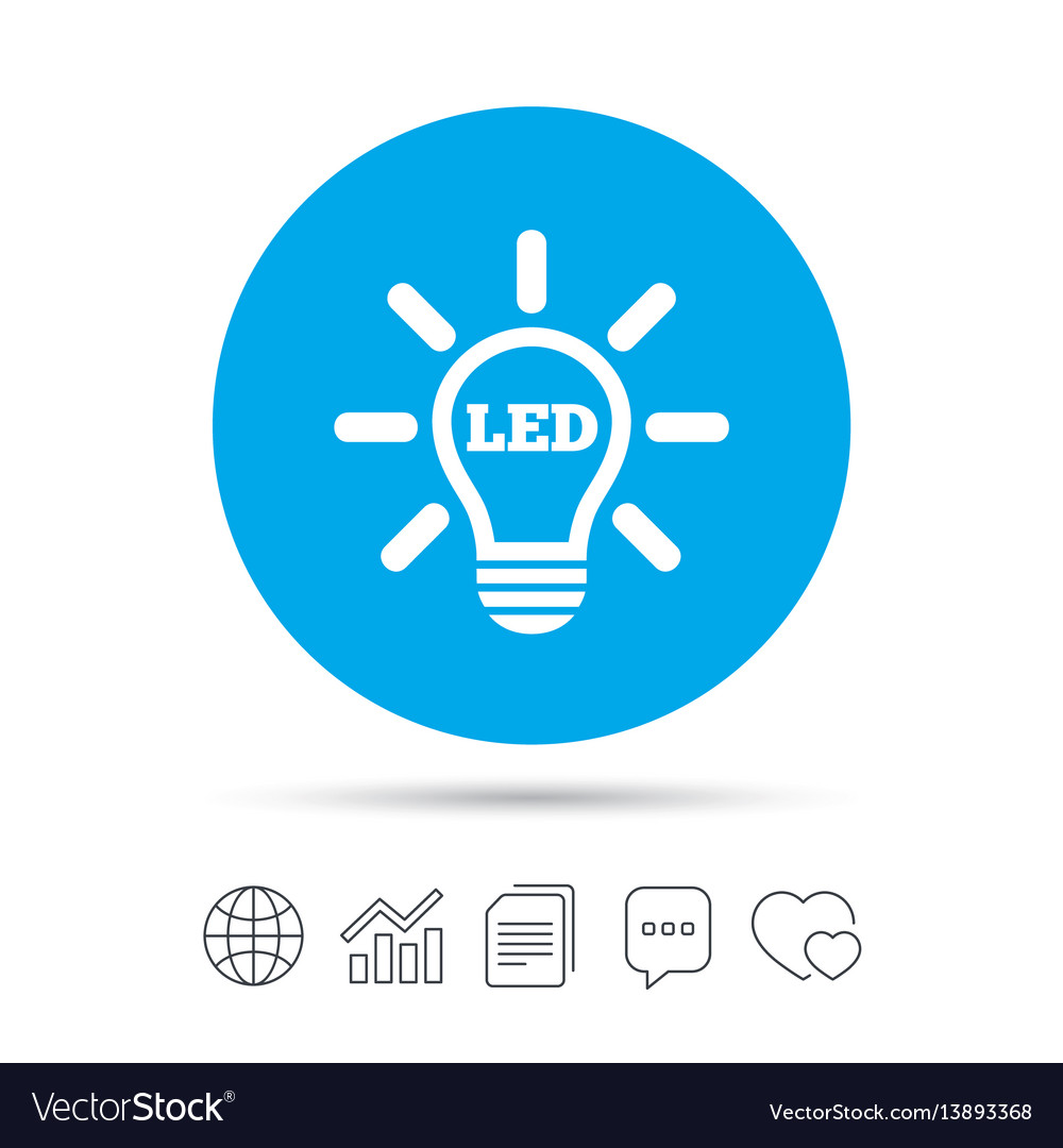 Led light lamp icon energy symbol Royalty Free Vector Image