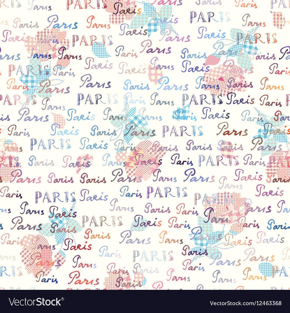 Paris retro collage