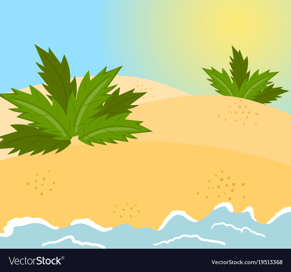 Sandy beach tropical cost background