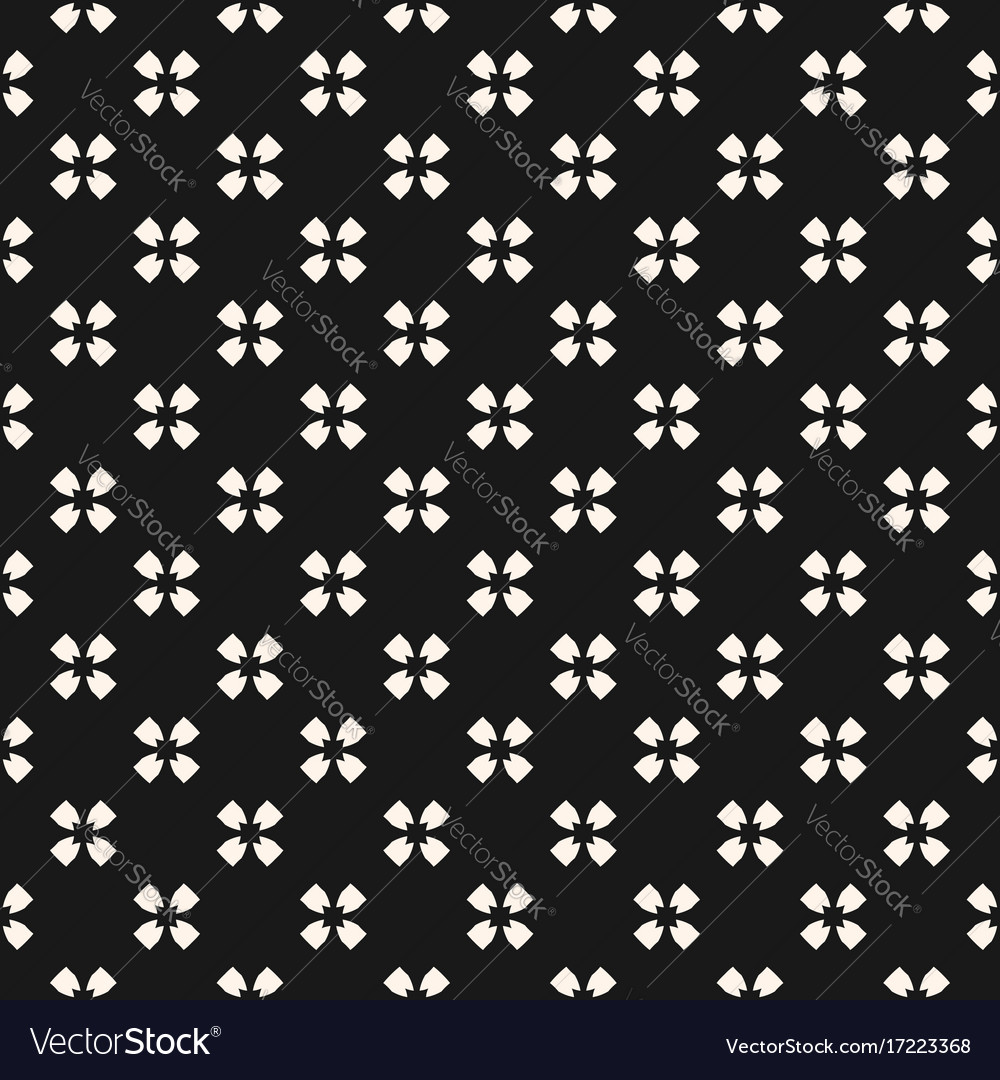 Seamless pattern simple floral texture vector image