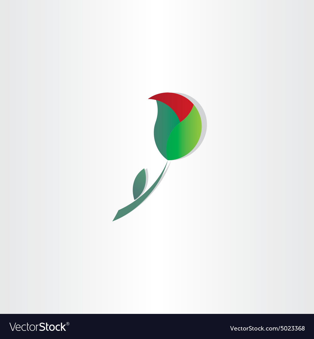Unfolding rose symbol design vector image
