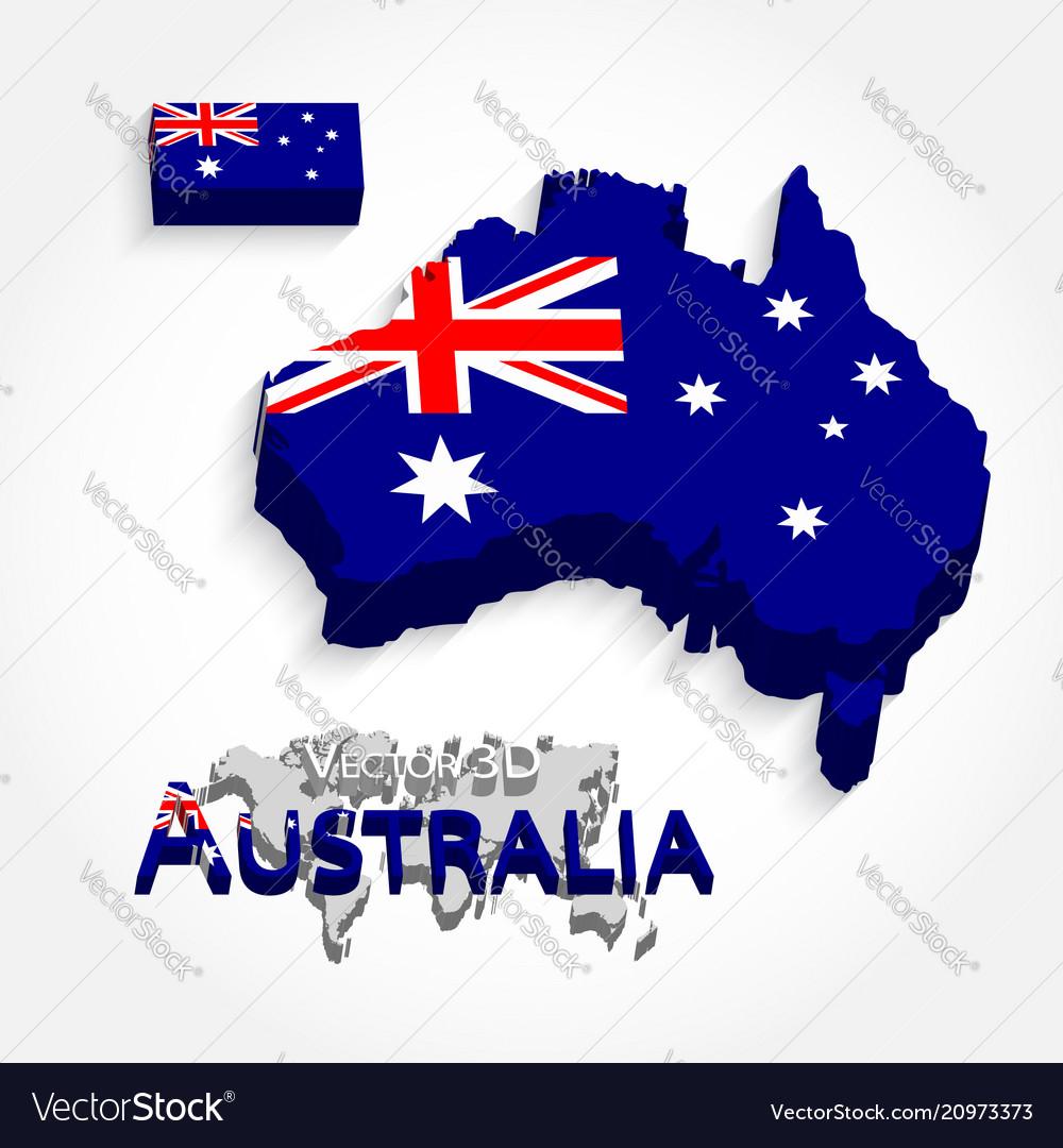 Free 3d Map Of Australia.Australia 3d Flag And Map