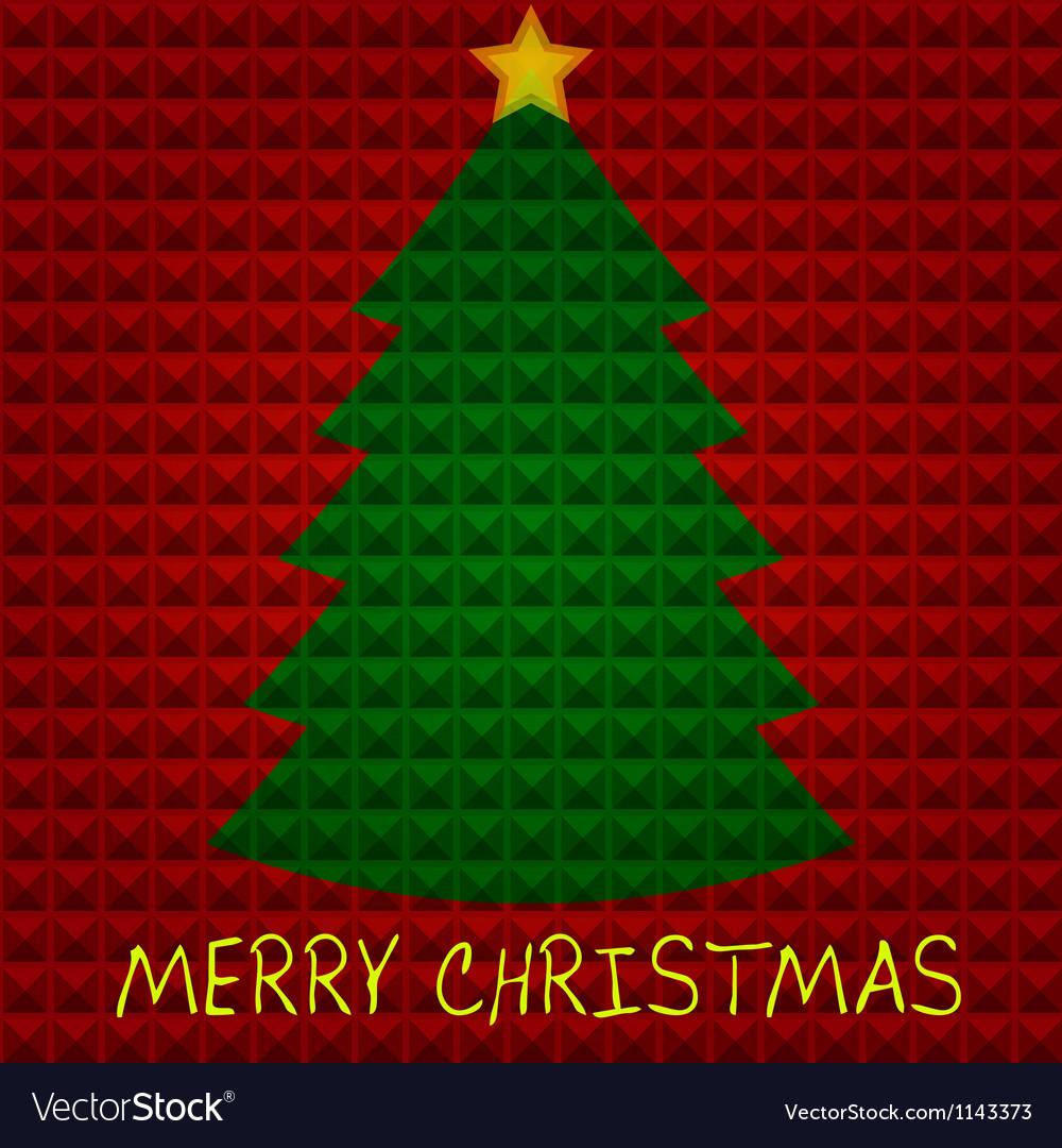 Christmas tree with pyramids background