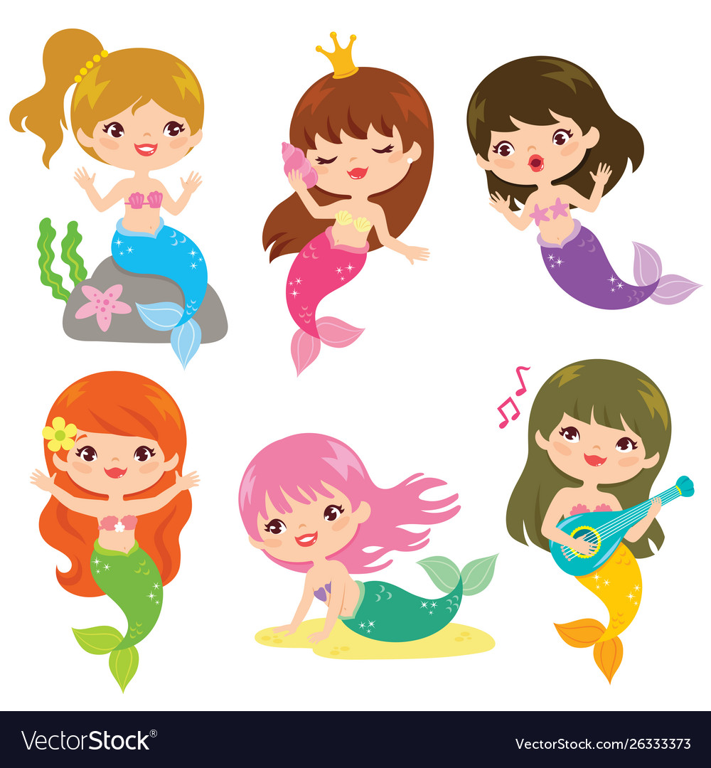 Cute Mermaid Clip Art