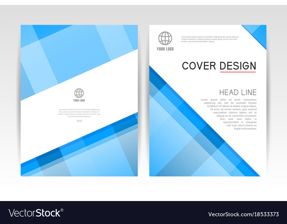Cover magazine layout cover design template vector image maxwellsz