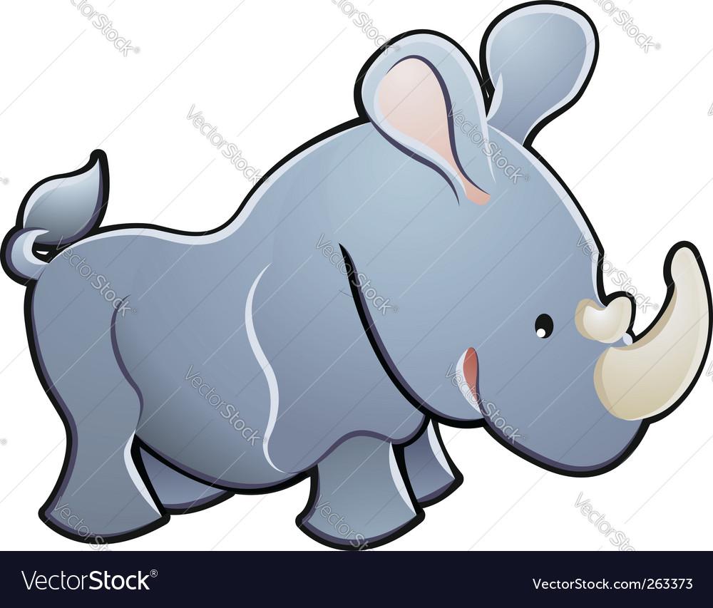 Cute rhino illustration