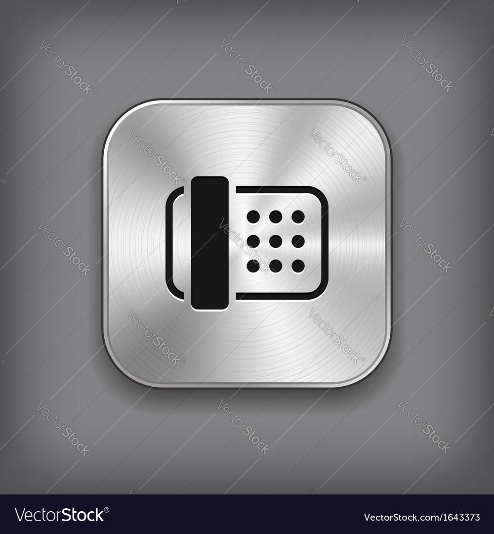 Fax icon - metal app button