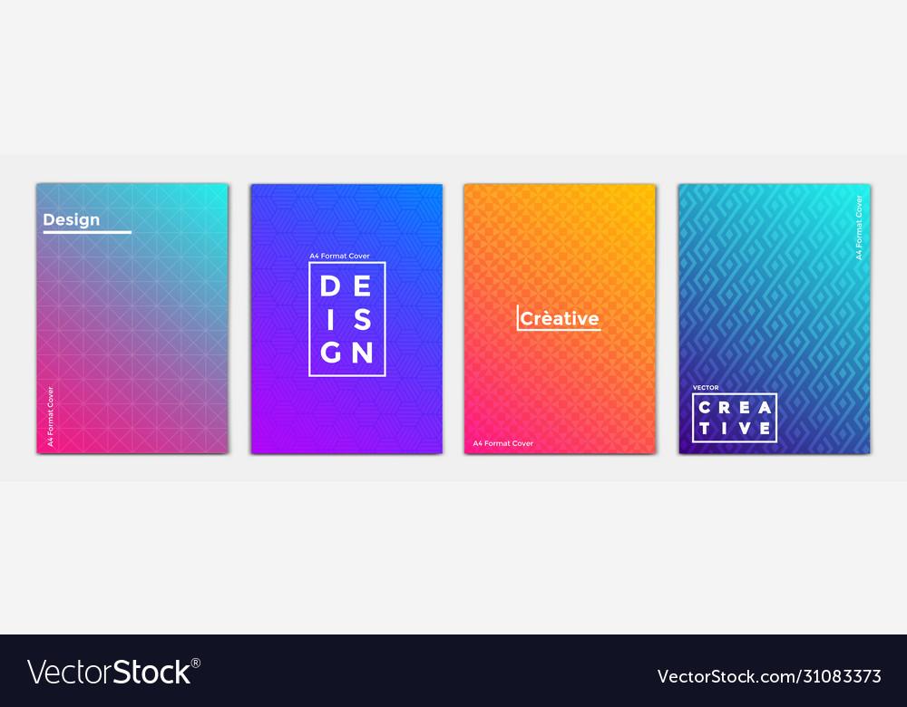 Geometric brochure design 3