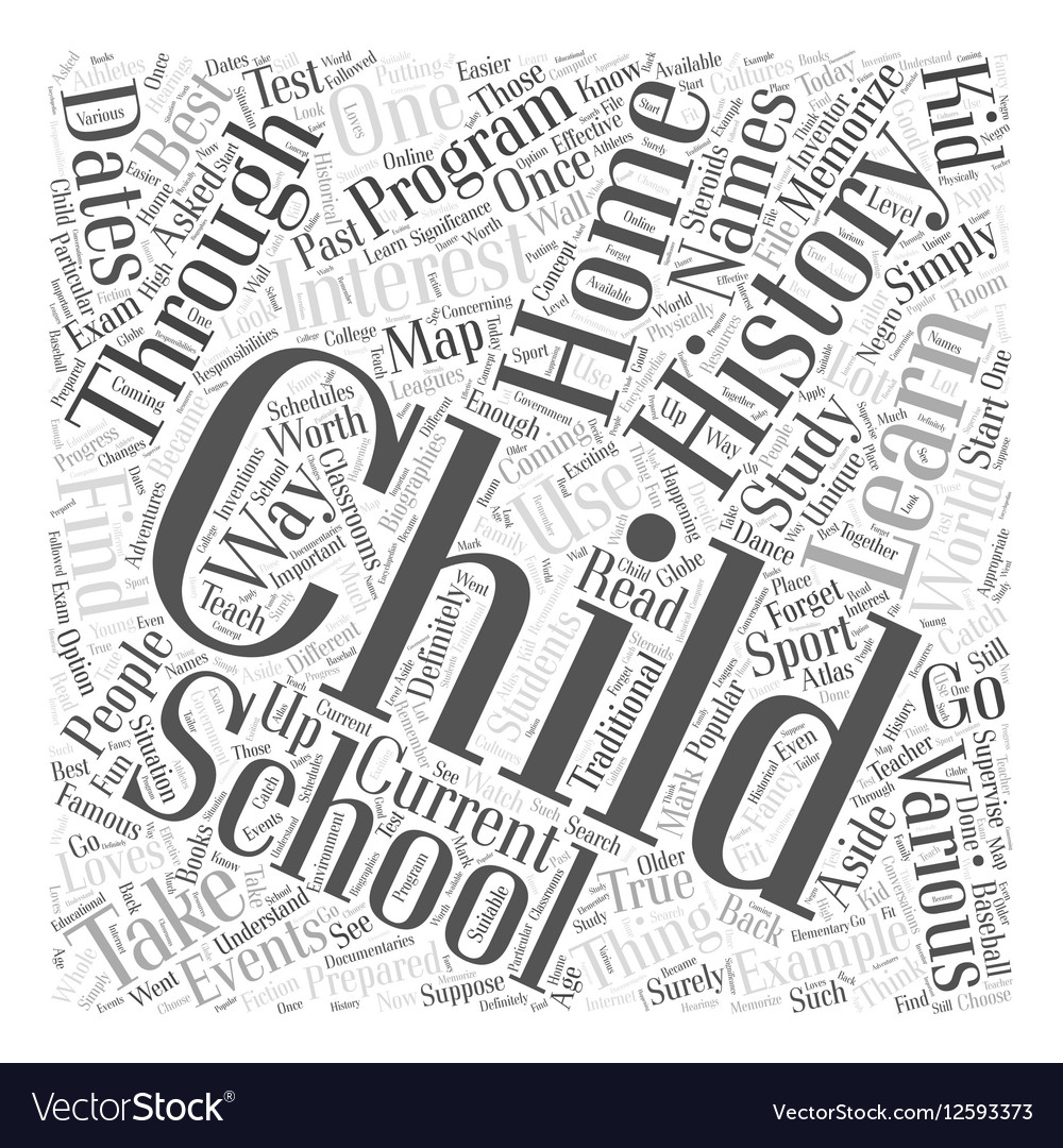 Home Schooling and the Study of History Word Cloud