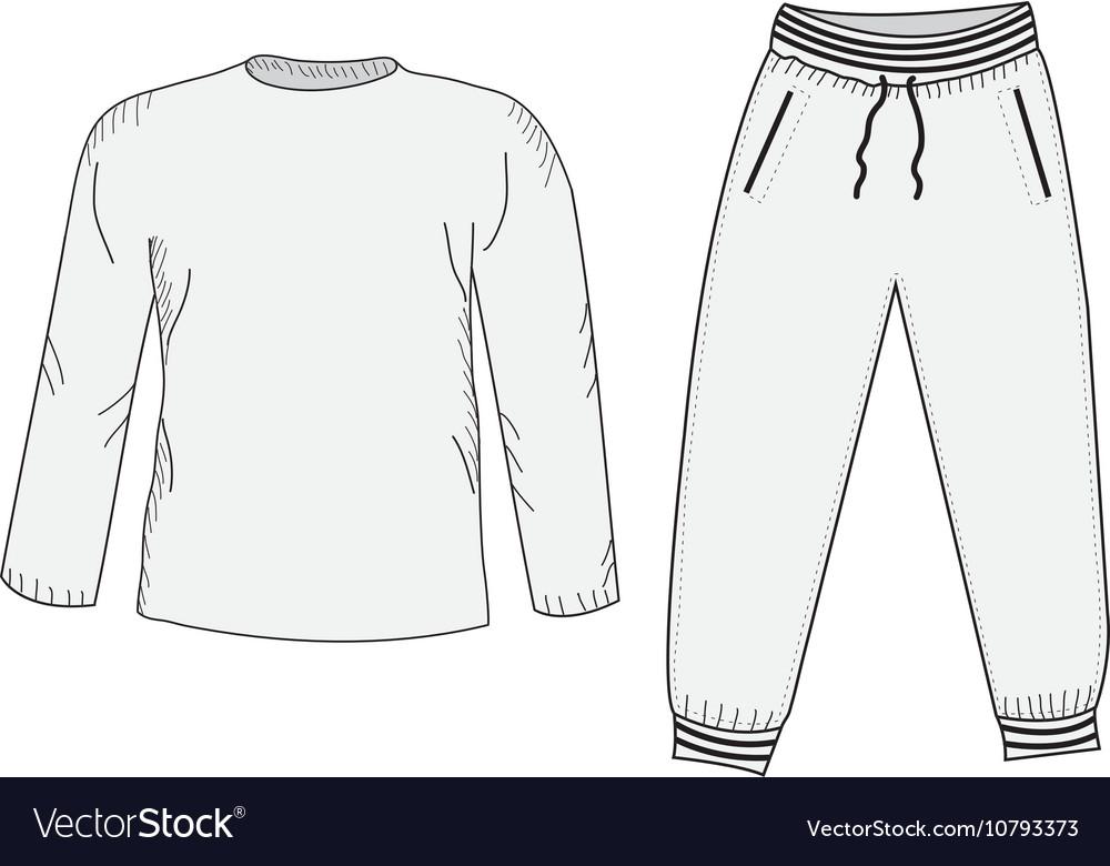 Jacket and sweatpants Tracksuit sketch set