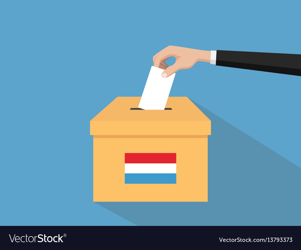 Luxembourg election vote concept with