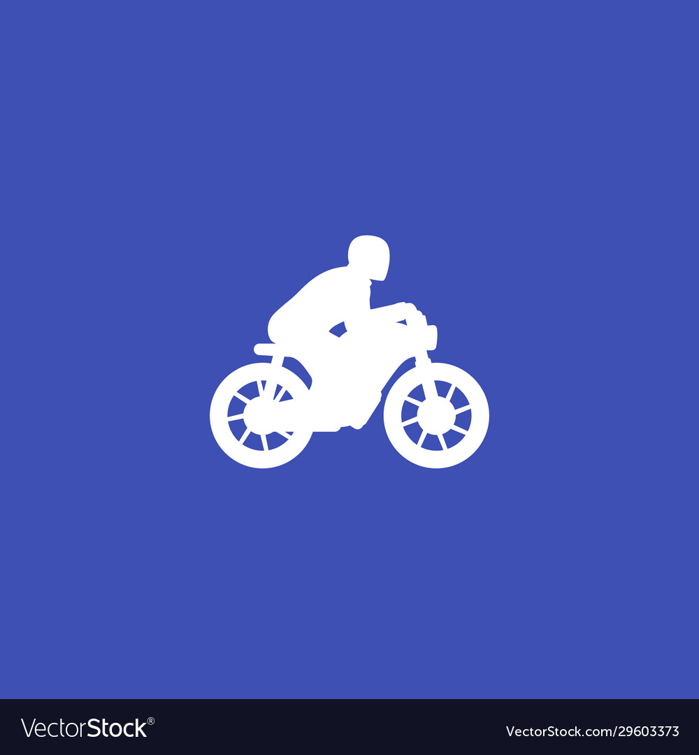 Rider on motorcycle icon