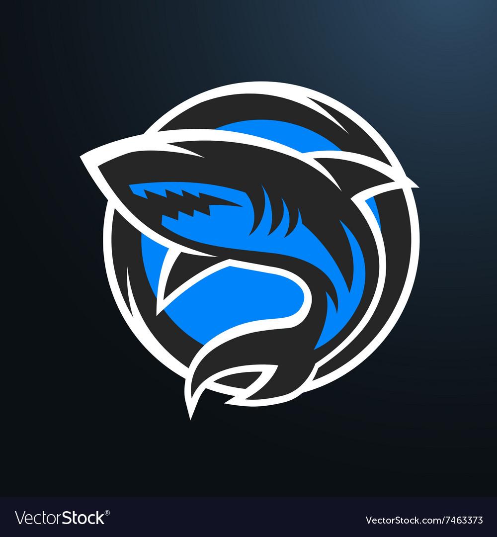 Shark sport logo on a dark background