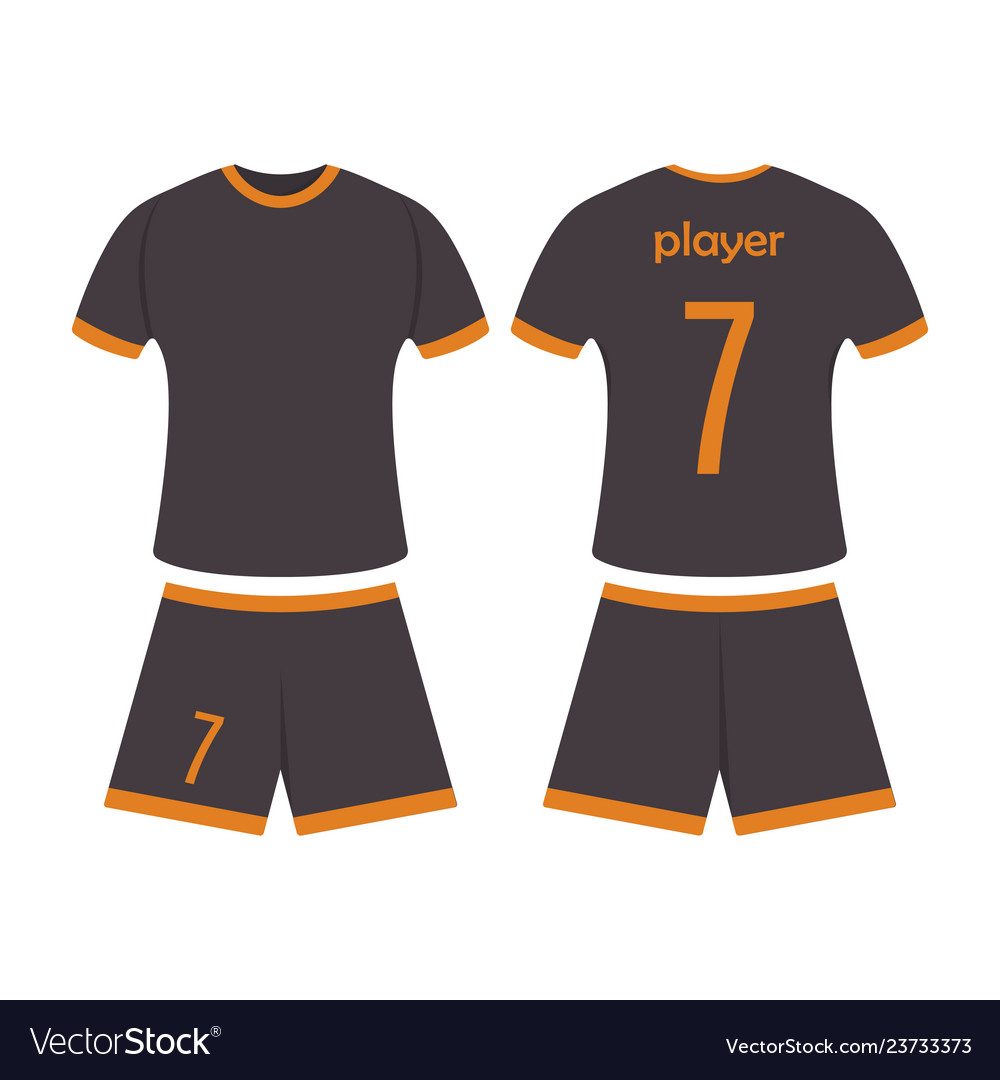 T Shirt Sport Design Template For Soccer Jersey Vector Image