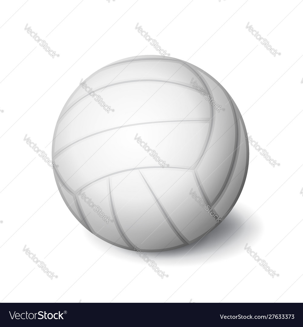 White volleyball ball icon isolated sports
