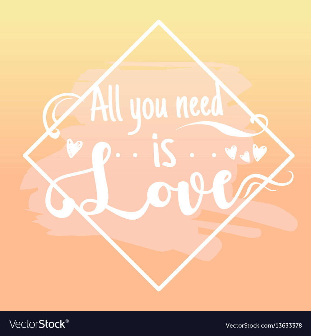 All you need is love design elements