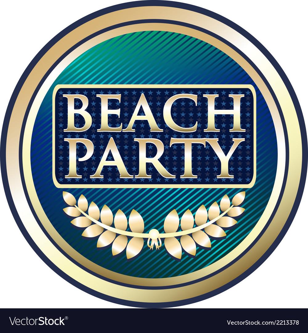 Beach Party Blue Label