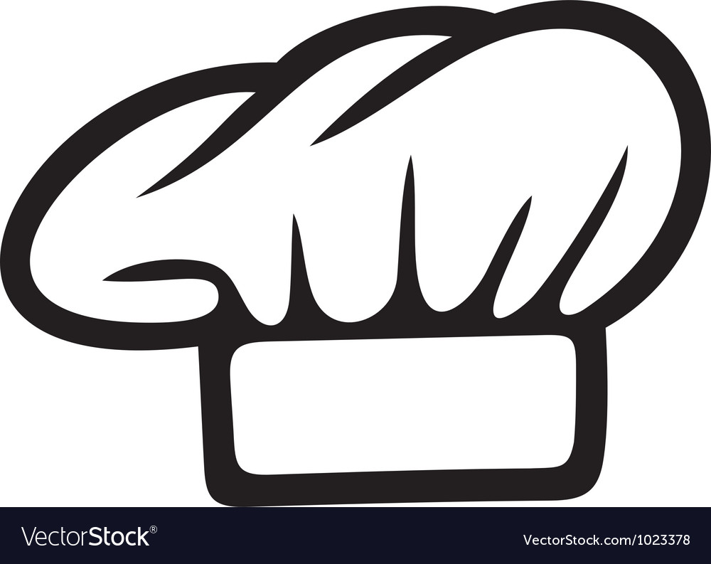 chef hat royalty free vector image vectorstock rh vectorstock com Chef Hat Silhouette Black and White Chef Hat