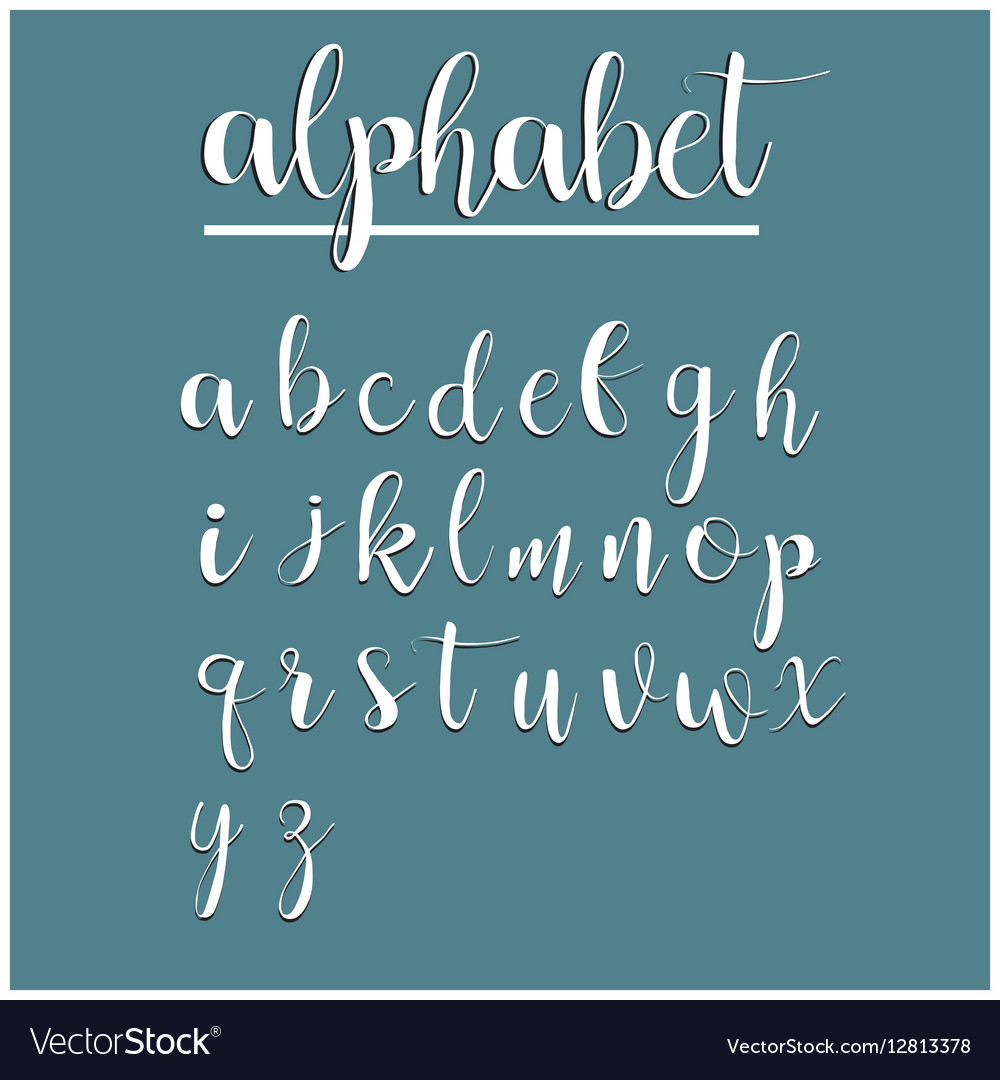 English alphabet calligraphy lettering modern
