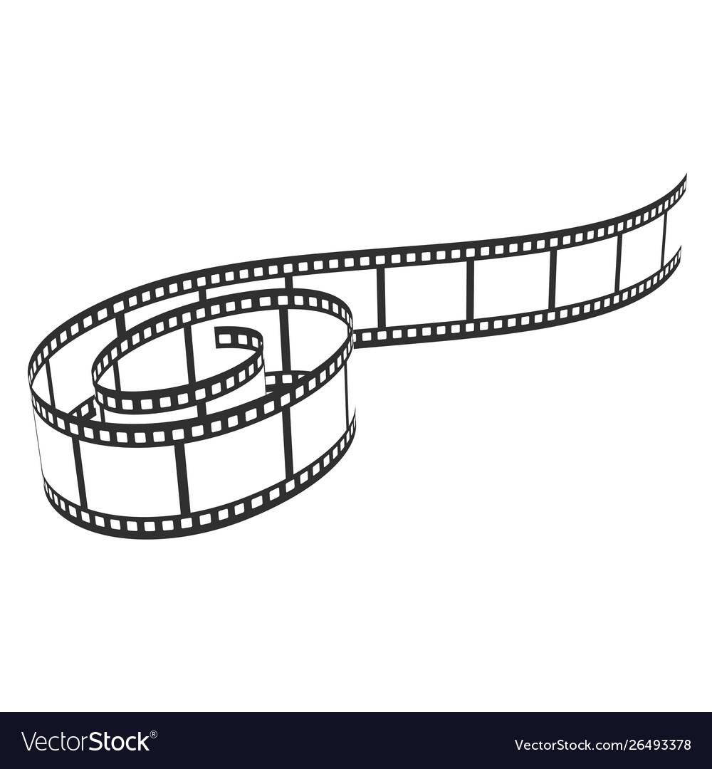Film reel icon cinema and movie filmstrip