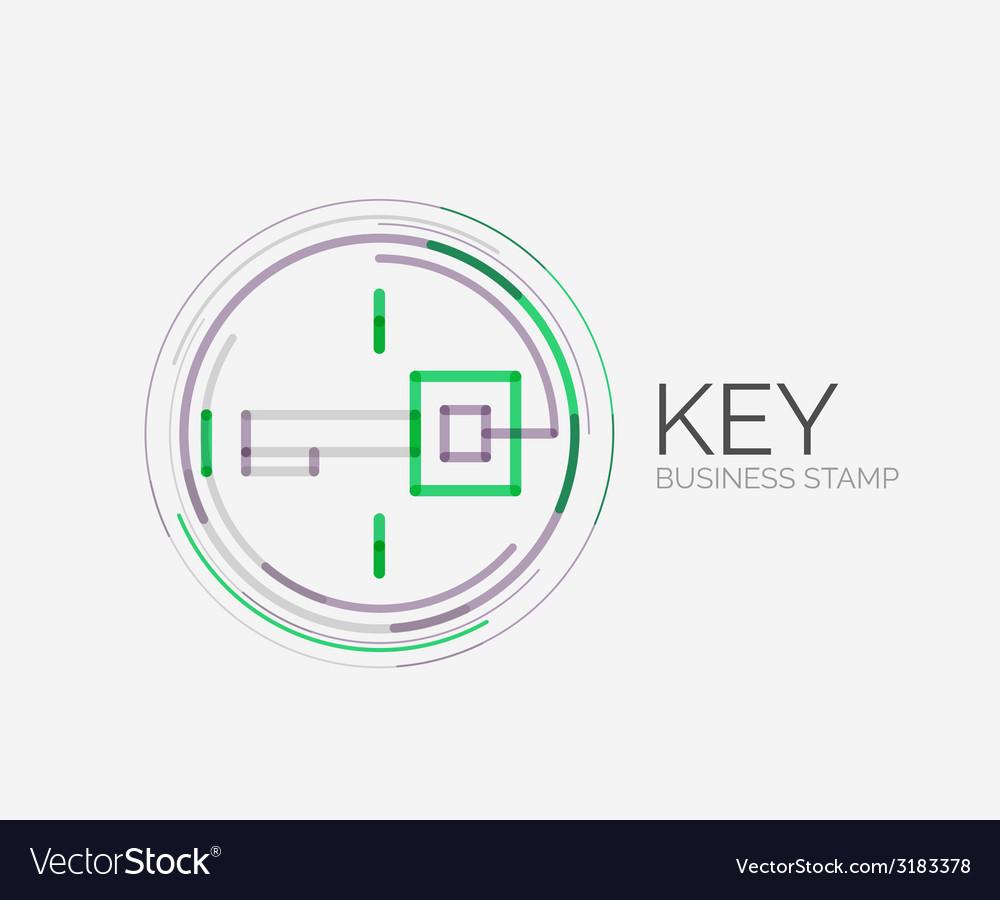 Minimal line design shopping stamps key
