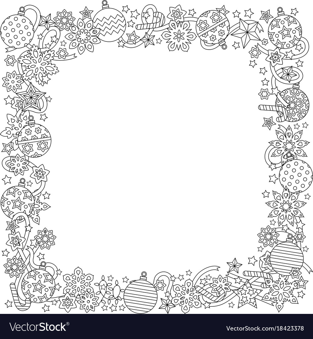 new year hand drawn square frame in zentangle vector image jpg 997x1080 ribbon borders zentangle