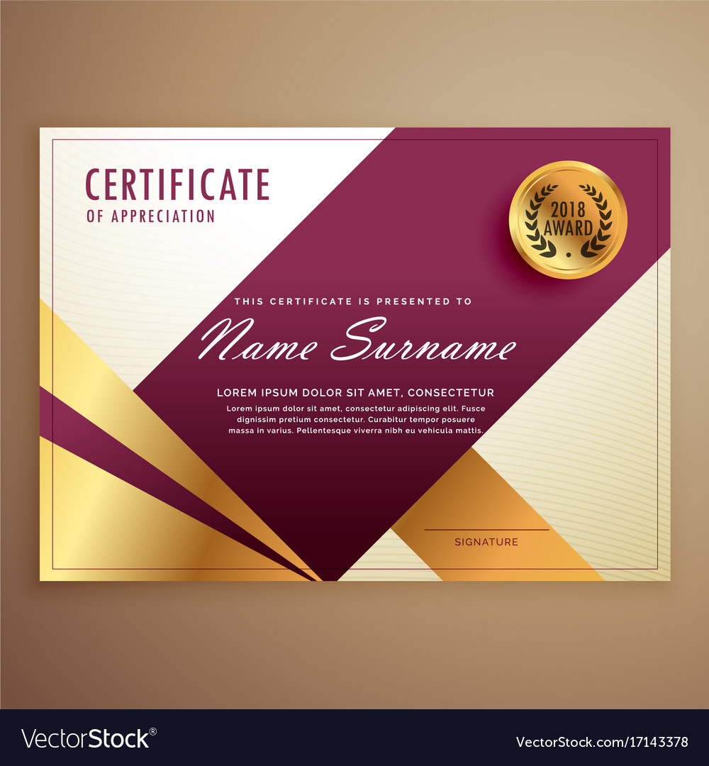 Premium certificate design template with modern vector image thecheapjerseys Gallery