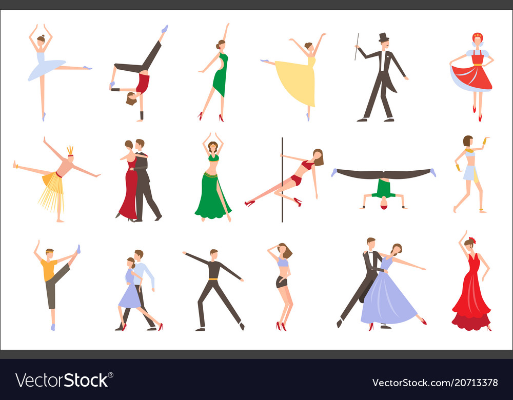 Professional dancers performing different styles