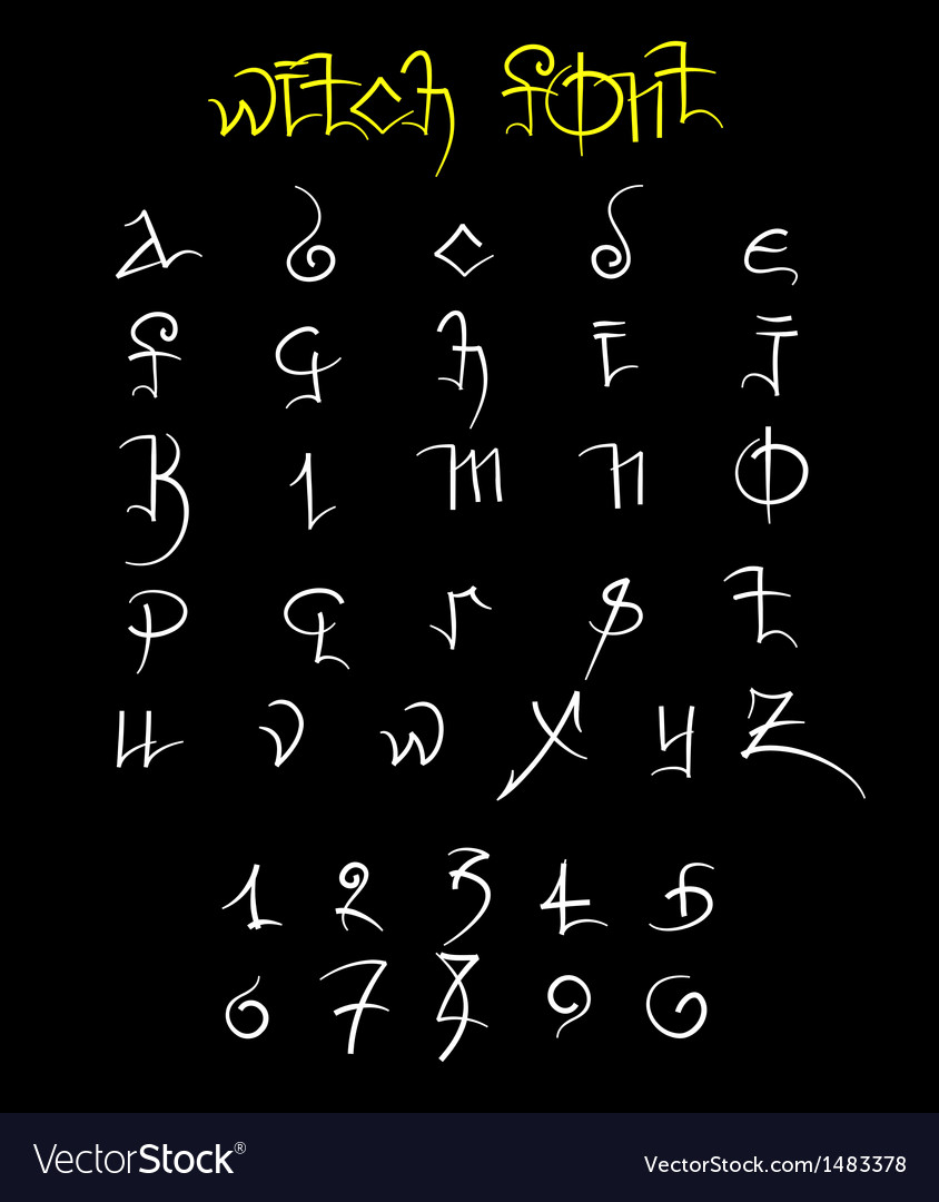 Witch font and numbers