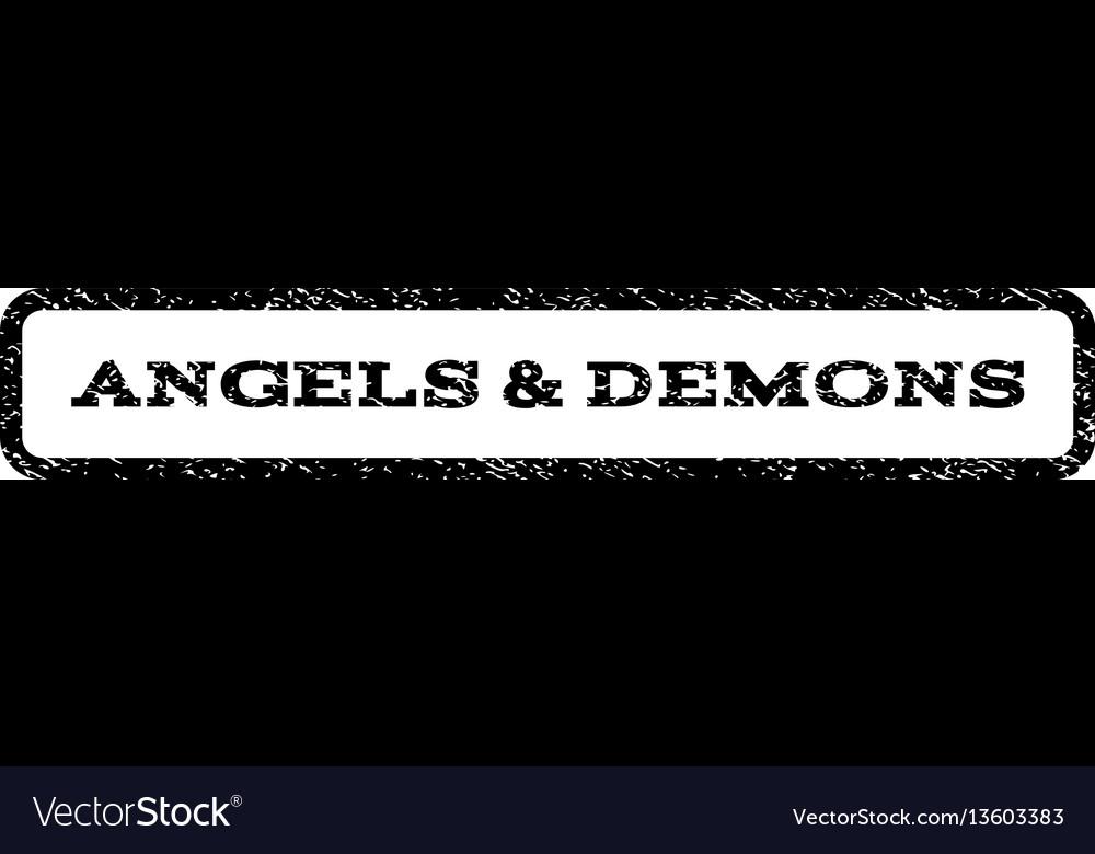 Angels demons watermark stamp vector image