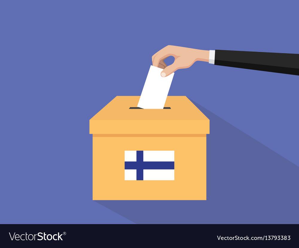 Finland election vote concept