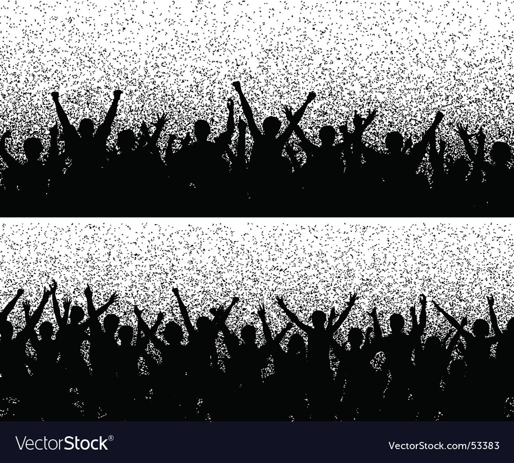 Grainy crowds vector image