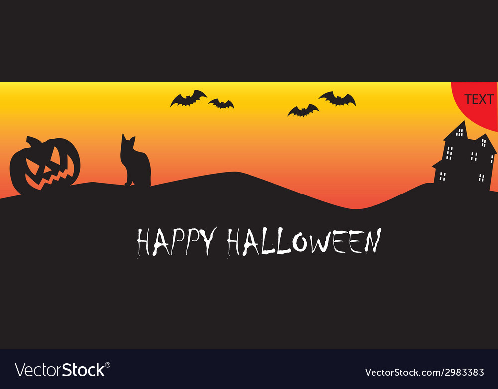 Happy Halloween Banner Royalty Free Vector Image
