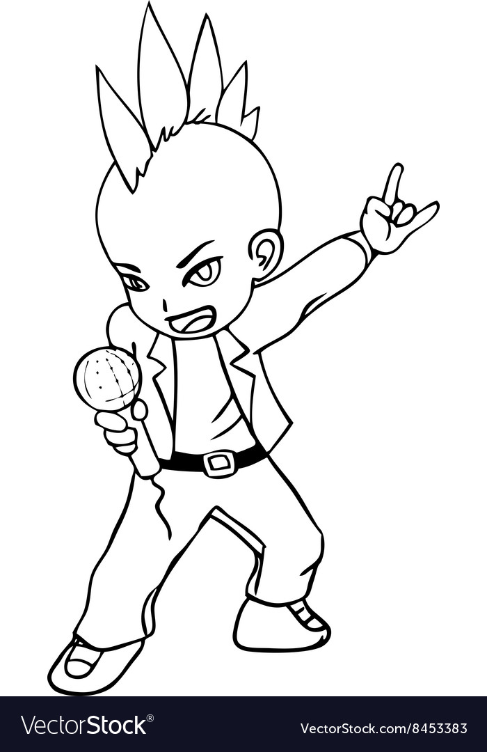 Line-art of a rocker