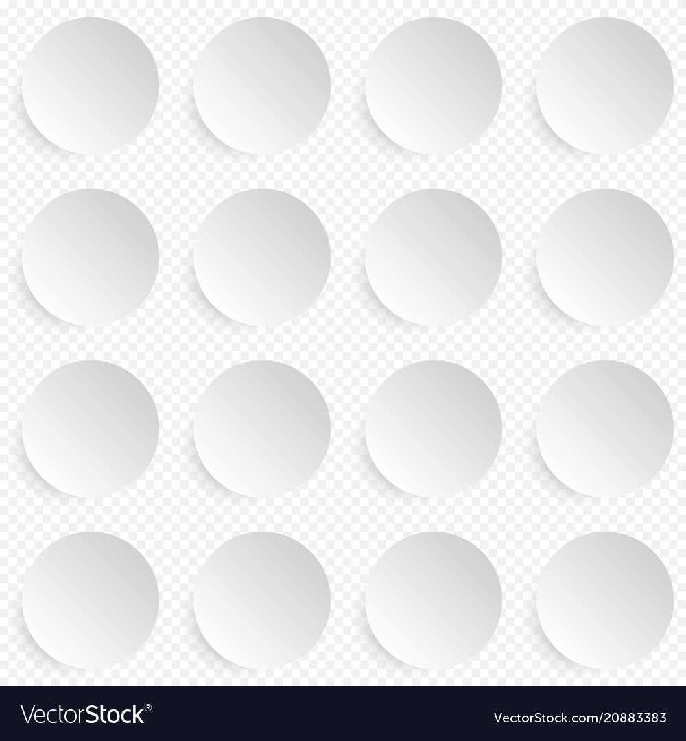 Modern seamless pattern in white circle buttons