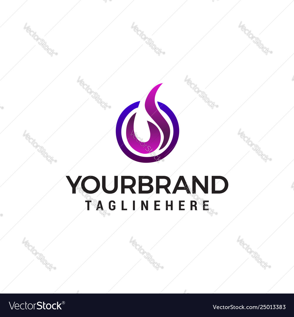 Oil gas logo template suitable for business