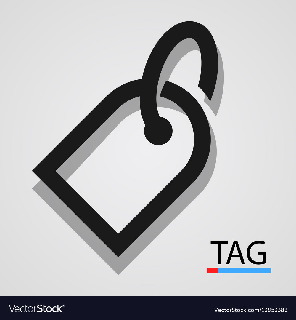 Price tag icon simple and clean