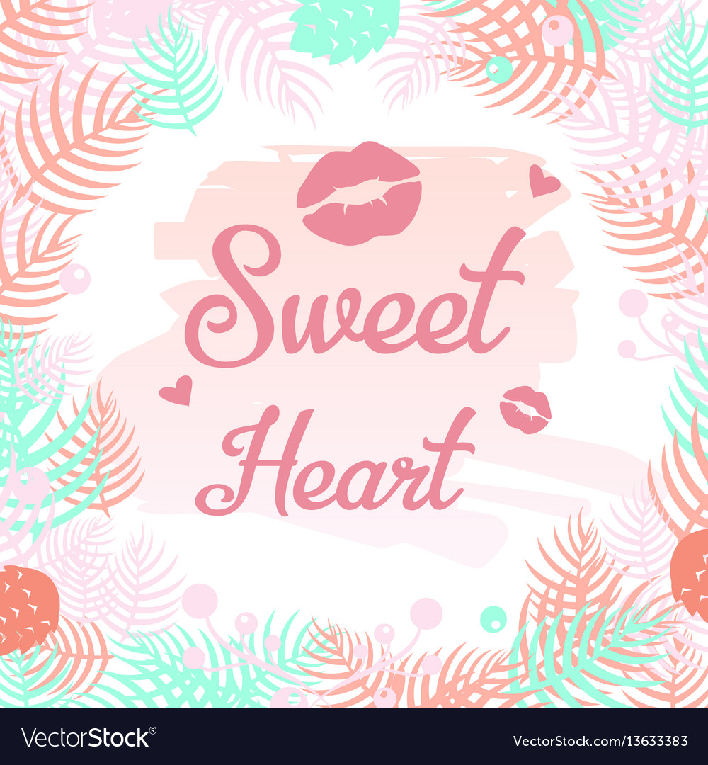Sweet heart design elements