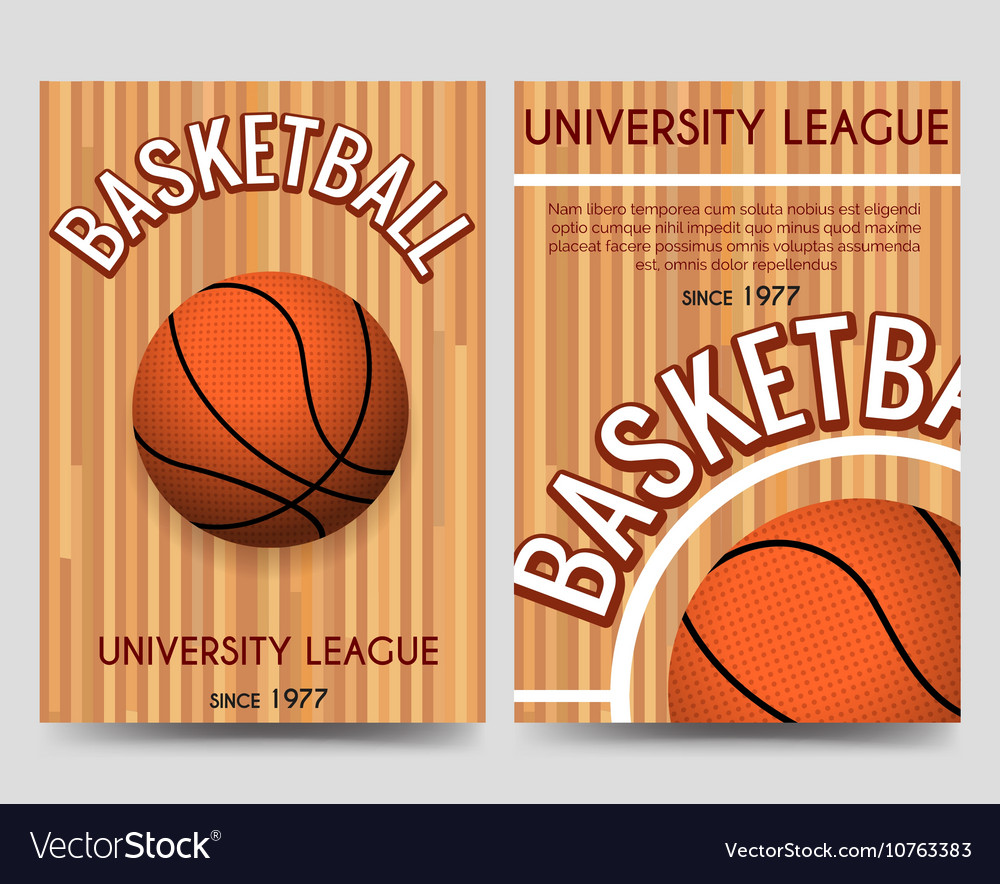 Univercity basketball flyer template with ball Vector Image