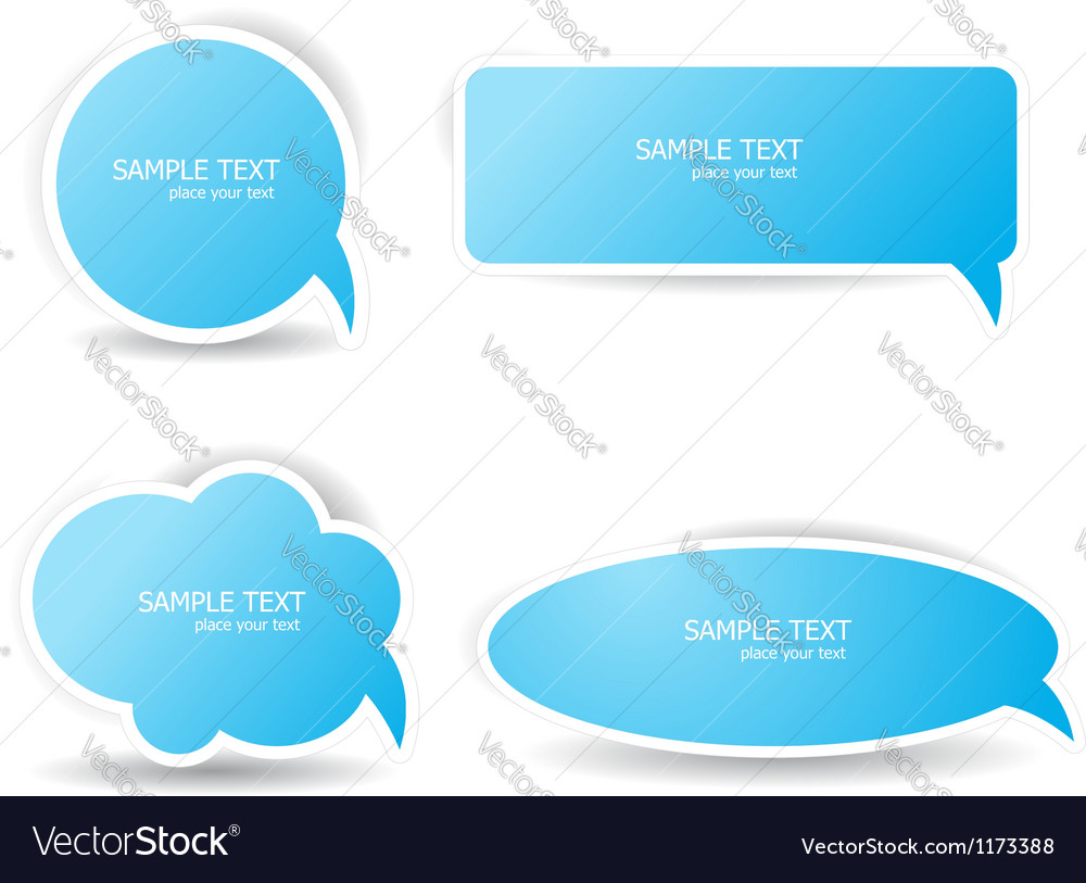 Blue speech bubbles