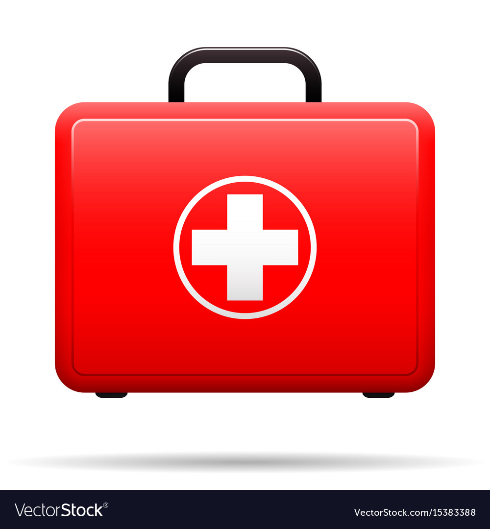 Box Stock Project >> First aid kit red case with medical emblem box Vector Image