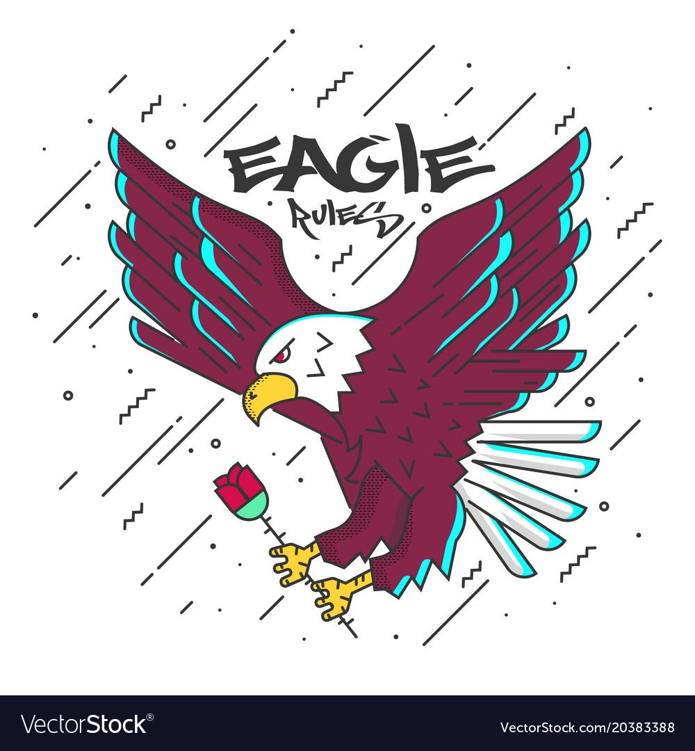 Flat designed eagle