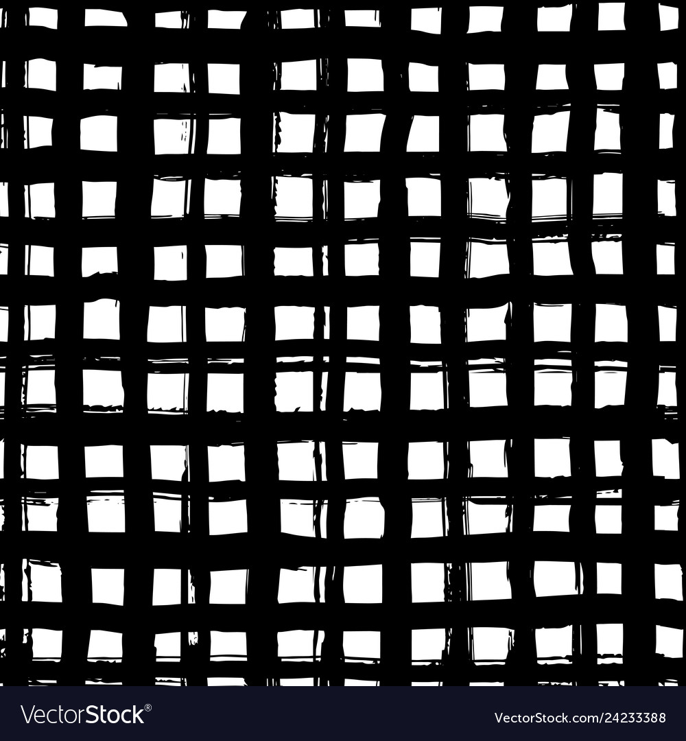 Hand drawn checkered seamless pattern